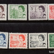 Sellos: CANADA 378/82C** - AÑO 1967 - REINA ISABEL II Y PAISAJES. Lote 153218462