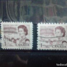 Sellos: CANADÁ 1967, ISABEL II, DENTADO 9 1/2 Y, 11 1/2. Lote 153337222