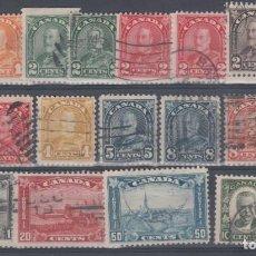 Sellos: CANADA, 1930-1931 YVERT Nº 140, 141, 142, 143, 144, 145, 146, 147, 148, 150, 151, 152, 153, 153, 157. Lote 154521942