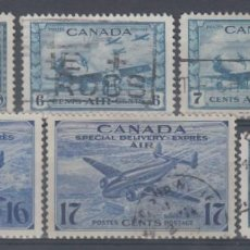 Sellos: CANADA, AÉREO, YVERT Nº 6, 7 / 8, 9 / 10, 11, . Lote 154540158