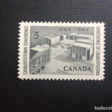 Sellos: CANADA Nº YVERT 356*** AÑO 1964. CENTENARIO DE LA CONFERENCIA DE CHARLOTTETOWN. Lote 155318250