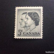 Sellos: CANADA Nº YVERT 301*** AÑO 1957. VISITA REAL. Lote 155707710