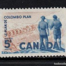 Sellos: CANADA 321** - AÑO 1961 - 10º ANIVERSARIO DEL PLAN DE COLOMBO. Lote 155806514