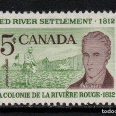 Sellos: CANADA 324** - AÑO 1962 - 150º ANIVERSARIO DE LA COLONIA DE LA RIVIERA ROUGE. Lote 155806686