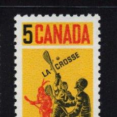 Sellos: CANADA 404** - AÑO 1968 - JUEGO DE LA CROSSE. Lote 155808598