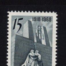 Sellos: CANADA 407** - AÑO 1968 - 50º ANIVERSARIO DEL ARMISTICIO DE 1918. Lote 155808986