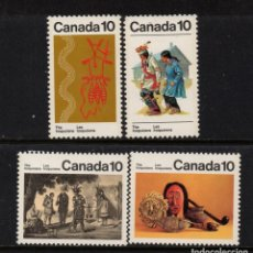 Sellos: CANADA 611/14** - AÑO 1976 - INDIOS IROQUESES - FOLKLORE. Lote 155809330