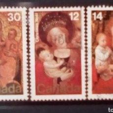 Sellos: CANADA NAVIDAD SERIE DE SELLOS USADOS. Lote 155918916