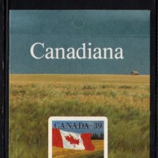 Sellos: CANADA CARNET 1132** - AÑO 1990 - BANDERA. Lote 163382026