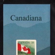Sellos: CANADA CARNET 1103** - AÑO 1989 - BANDERA NACIONAL. Lote 166535810
