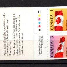 Sellos: CANADA CARNET 1173** - AÑO 1990 - BANDERA NACIONAL. Lote 166536162
