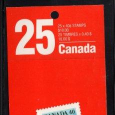 Sellos: CANADA CARNET 1168A II** - AÑO 1990 - BANDERA NACIONAL. Lote 166536542