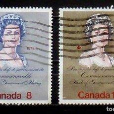 Sellos: SELLOS CANADA - FOTO 029 - Nº 503 IVERT , COMPLETA USADO. Lote 167037392