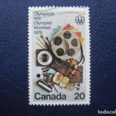 Sellos: CANADA, JUEGOS OLIMPICOS MONTREAL 1976. Lote 168495348