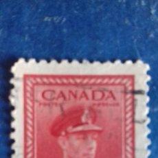 Sellos: CANADÁ 1943. STANLEY & GIBBONS 380. ESFUERZO DE GUERRA. REY JORGE VI DE UNIFORME. USADO. . Lote 168971504