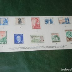 Sellos: CANADA TARJETON CANADA HISTORY IN POSTAGE STAMPS SERIES 4. Lote 174022125
