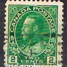 Sellos: CANADA Nº 100, JORGE V EN UNIFORME DE ALMIRANTE, (AÑO 1922), USADO. Lote 177047822