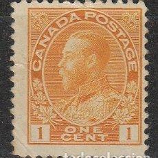 Sellos: CANADA Nº 99, JORGE V EN UNIFORME DE ALMIRANTE, (AÑO 1922), NUEVO. Lote 177047884