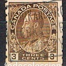 Sellos: CANADA Nº 85, JORGE V EN UNIFORME DE ALMIRANTE, (AÑO 1911), DE CARNET, USADO. Lote 177048320