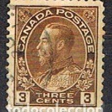 Sellos: CANADA Nº 85, JORGE V EN UNIFORME DE ALMIRANTE, (AÑO 1911), USADO. Lote 177048339