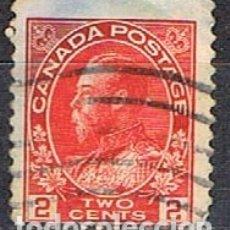 Sellos: CANADA Nº 84, JORGE V EN UNIFORME DE ALMIRANTE, (AÑO 1911), USADO. Lote 177048378