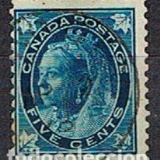 Sellos: CANADA Nº 49, LA REINA VICTORIA (AÑO 1897), USADO. Lote 177048914