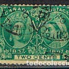 Sellos: CANADA Nº 31, 60 ANIVERSARIO DE LA CORONACIÓN DE LA REINA VICTORIA (AÑO 1897), NUEVO SIN GOMA. Lote 177049133