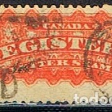 Sellos: CANADA Nº 23 A , SELLO PARA CORREO CERTIFICADO (AÑO 1893), USADO (SERIE COMPLETA). Lote 177049417