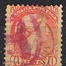 Sellos: CANADA Nº 16, LA REINA VICTORIA (AÑO 1870), USADO. Lote 177049748