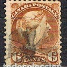 Sellos: CANADA Nº 15, LA REINA VICTORIA (AÑO 1870), USADO. Lote 177049795