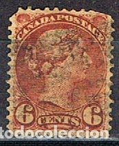 CANADA Nº 15 A, LA REINA VICTORIA (AÑO 1870), USADO (Sellos - Extranjero - América - Canadá)