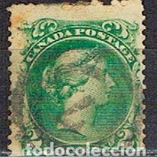 Sellos: CANADA Nº 4, LA REINA VICTORIA (AÑO 1868), USADO. Lote 177049964