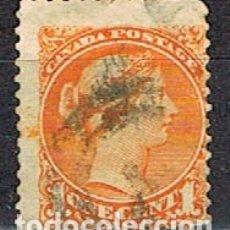 Sellos: CANADA Nº 3, LA REINA VICTORIA (AÑO 1868), USADO. Lote 177050009