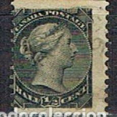Sellos: CANADA Nº 1, LA REINA VICTORIA (AÑO 1868), USADO. Lote 177050048