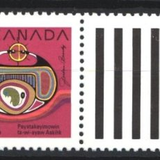 Sellos: CANADA, 1990 YVERT Nº 1160 /**/, SIN FIJASELLOS. Lote 180038008