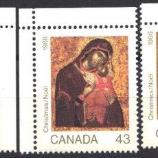 Sellos: CANADA, 1988 YVERT Nº 1072 / 1074 /**/, SIN FIJASELLOS. Lote 180041036