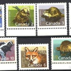 Sellos: CANADA, 1988 YVERT Nº 1064 / 1070 /**/, SIN FIJASELLOS. Lote 180041063