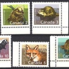 Sellos: CANADA, 1988 YVERT Nº 1064 / 1070 /**/, SIN FIJASELLOS. Lote 180041088