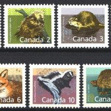 Sellos: CANADA, 1988 YVERT Nº 1064 / 1070 /**/, SIN FIJASELLOS. Lote 180041096