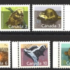 Sellos: CANADA, 1988 YVERT Nº 1064 / 1070 /**/, SIN FIJASELLOS. Lote 180041105