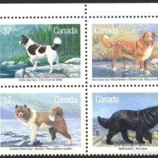 Sellos: CANADA, 1988 YVERT Nº 1058 / 1061 /**/, SIN FIJASELLOS. Lote 180041248