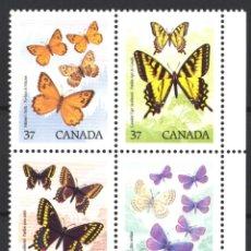Sellos: CANADA, 1988 YVERT Nº 1052 / 1055 /**/, SIN FIJASELLOS. Lote 180041277