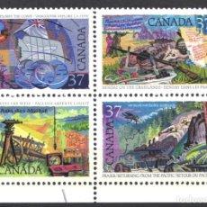 Sellos: CANADA, 1988 YVERT Nº 1041 / 1044 /**/, SIN FIJASELLOS. Lote 180041301