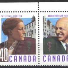 Sellos: CANADA, 1991 YVERT Nº 1176 / 1179 /**/, SIN FIJASELLOS. Lote 180041668