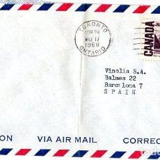 Sellos: CANADA SOBRE AEREO TORONTO MAYO 1968. Lote 181212003