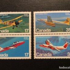 Sellos: CANADA Nº YVERT 779/2*** AÑO 1981. AVIONES MILITARES Y CIVILES. Lote 181225987