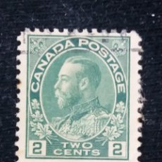 Sellos: CANADA, 2 CENT, REY GEORGE V. AÑO 1922..SIN USAR. Lote 181609590