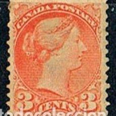 Sellos: CANADA Nº 19, REINA VICTORIA, NUEVO SIN GOMA. ENVIO CERTIFICADO GRATIS. Lote 182311561