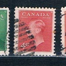 Sellos: SELLOS USADOS CANADA 1949/1951 YVES 236/239/239A. Lote 183036623