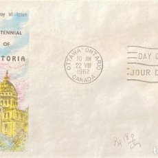 Sellos: SOBRE PRIMER DIA. CENTENNIAL OF VICTORIA. OTTAWA ONTARIO. CANADA, 1962. . Lote 186137886